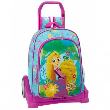 Disney Rapunzel Rucksack Kinder Tasche Trolley Schultertasche NEU
