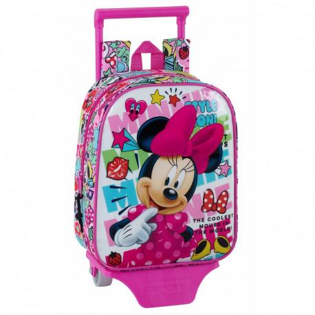 Sac à roulettes Minnie Mouse Cool 28 CM maternelle Haut de Gamme - Cartable 06546fa5e542