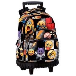 Sac à dos à roulettes Emoji Sticker 46 CM trolley Haut de Gamme - Cartable