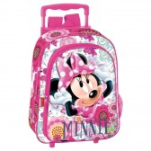 Backpack skateboard maternal Minnie 37 CM trolley Rose - Binder