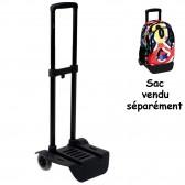 Trolley met wielen Perona zwart voor rugzak