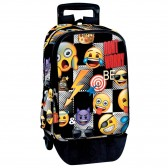 Sac à dos à roulettes Emoji Sticker 43 CM trolley Haut de Gamme