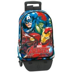 Mochila con ruedas Avengers 43 CM - Trolley escolar