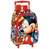 Sac à dos à roulettes maternelle Mickey OK 37 CM trolley - Cartable