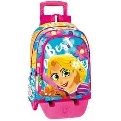 Mochila con ruedas Princesa Rapunzel 43 CM - Trolley escolar