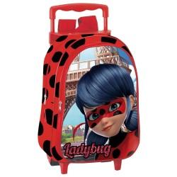 Sac à dos à roulettes maternelle Ladybug Miraculous Paris 37 CM trolley - Cartable