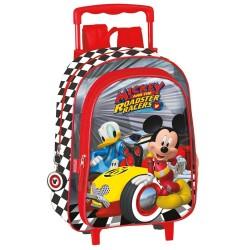 Sac à dos à roulettes maternelle Mickey et Donald Drivers 37 CM trolley - Cartable