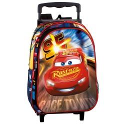 Sac à dos à roulettes maternelle Cars Disney Legend 37 CM trolley - Cartable