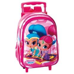 Mochila con ruedas materna Shimmer y Shine 37 CM - Trolley escolar