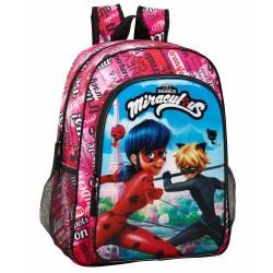 Black 42 CM high end cat and Ladybug backpack