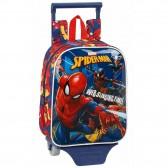 Sac à roulettes Spiderman Action 28 CM maternelle Haut de Gamme - Cartable