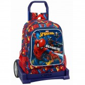 Sac à roulettes Spiderman Action Evolution 43 CM Haut de Gamme - Cartable trolley