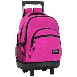 Rolling Backpack Blackfit Pink 45 CM Premium Trolley