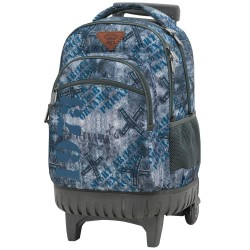 Rolling Backpack Jeans 45 cm Premium - 3 cpt - Trolley