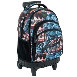 Rolling Backpack Graffiti 45 cm Premium - 3 cpt - Trolley