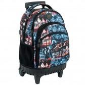 Backpack on wheels Flamingo 45 cm high-end - 3 cpt - Binder