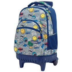 Mochila con ruedas Smiley Pop 45 CM - 3 cpt - Trolley escolar