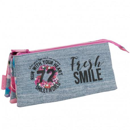 Trousse Smiley 72 Premium 23 CM - 3 compartiments