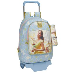 Rolling Backpack Beauty and the Beast 43 CM Premium Trolley - Bag + Kit