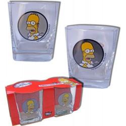 Set of 2 glasses Homer Simpson