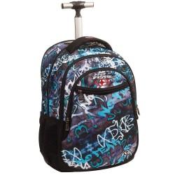 Rolling Backpack No Fear Street Graffiti 48 CM - Trolley