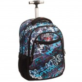 No Fear Wolf 48 CM black rolling bag - backpack