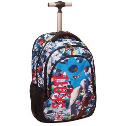 Rolling Backpack No Fear Color Skate 48 CM - Trolley