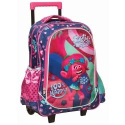 Rolling Backpack Trolls Happy 45 CM Premium - Trolley
