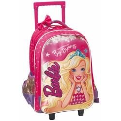 Sac à dos à roulettes Barbie Dreams 45 CM Haut de gamme - Cartable