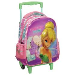 Mochila con ruedas materna Tinkerbell 3D 31 CM - Trolley escolar