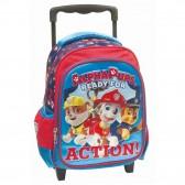Sac à roulettes trolley maternelle Pat Patrouille Action 31 CM - Cartable