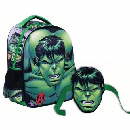 Sac à dos maternelle HULK 31 CM - Cartable Avengers