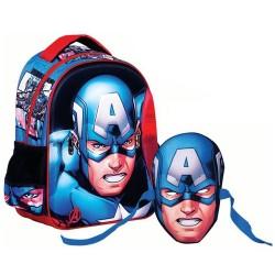 Sac à dos maternelle Captain America 31 CM - Cartable Avengers