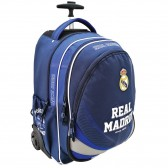 Sac à dos à roulettes 47 CM Real Madrid Basic Haut de gamme - 2 cpt - Trolley Cartable