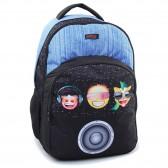 46 CM Emoji Smile high-end backpack