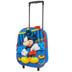 Zaino scuola Mickey 3D blu 31 CM - Trolley