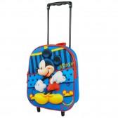 Sac à roulettes maternelle Mickey bleu 31 CM - Cartable