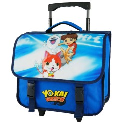 Rolling School Bag Yo-kai 38 CM Trolley Blue Premium