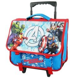 Mochila con ruedas Avengers azul 3D 38 CM - Trolley escolar