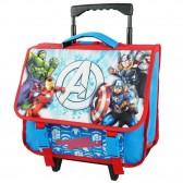 Cartable à roulettes Avengers 3D bleu 38 CM Trolley - Cartable