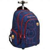 Sac à dos à roulettes 44 CM FC Barcelone History Haut de gamme - 2 cpt - Cartable Trolley FCB