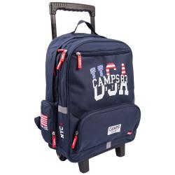 Sac à dos à roulettes 43 CM Camps USA Haut de gamme - 2 cpt - Cartable