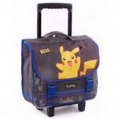 Cartable à roulettes 38 CM Pokemon Pika Pika Haut de gamme