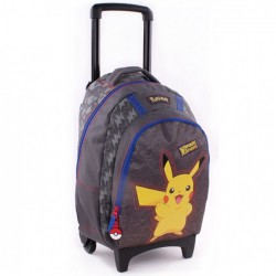 Rugzak skateboard 45 CM Pokemon Pika Pika high-end Trolley - Binder