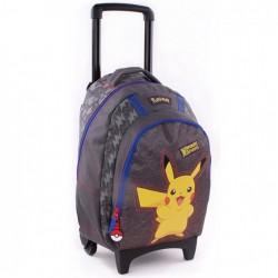 Sac à dos à roulettes 45 CM Pokemon Pika Pika Haut de gamme Trolley - Cartable