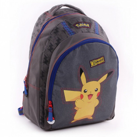 Sac à dos 44 CM Pokemon Pika Pika - Cartable