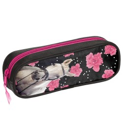 Trousse rectangle Cheval Flower 23 CM
