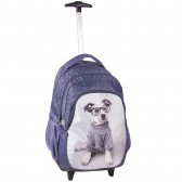 Skateboarding dog Studio Pets 45 CM trolley - satchel backpack