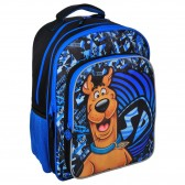 Sac à dos Scoubidou Bleu 41 CM - Scooby doo - 2 Cpt