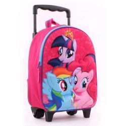 Rolling Backpack maternal Little Pony 3D 31 CM - Trolley